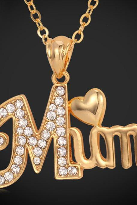 Rose Gold Plated MUM Mother's Day Necklace Gift Gold Necklace