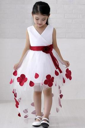 Ulass Children's wedding dress princess skirt mopping winter flower girl dress wedding dress skirt skirt host show girls