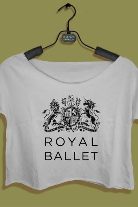 royal ballet shirt women's crop tee dance studio dancing t-shirt ballerina crop top