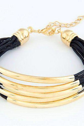 Girl party bangle casual black bracelet