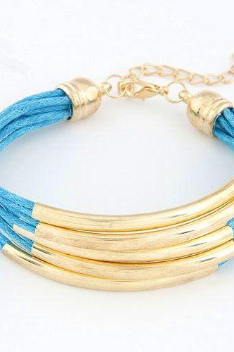 Girl party bangle casual blue bracelet
