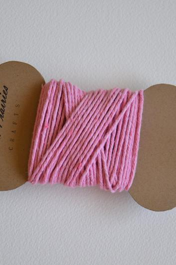 Hand-dyed Solid 100% Cotton Twine / Petal Pink
