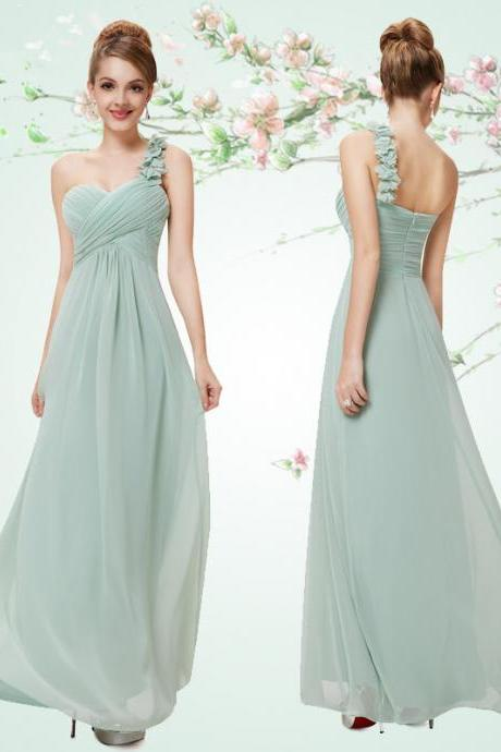 Autumn and winter banquet date bridesmaid dresses long shoulder sisters Outfit Dress Chiffon Prom Dress/Bridesmaid Dress/Homecoming Dress/Party Dress/Evening Dress