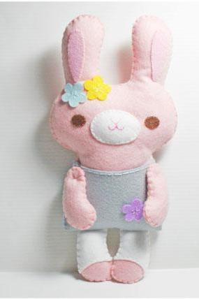 Little Pink Rabbit - PDF Doll Pattern