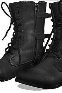 HANDMADE CUSTOM MEN MILITARY STYLE BOOT, MEN STYLISH GENUINE COMBAT LEATHER BOOT