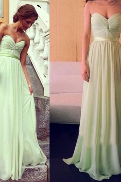 Newest Evening Dress,A-Line Evening Dress,Floor-Length Evening Dress, Prom Dress With Sashes 20,Chiffon Evening Dresses