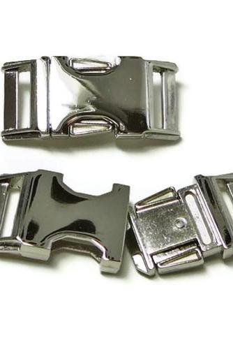 Nickel Finish Metal Buckle Upgrade for 3/4' or 1' Dog Collar