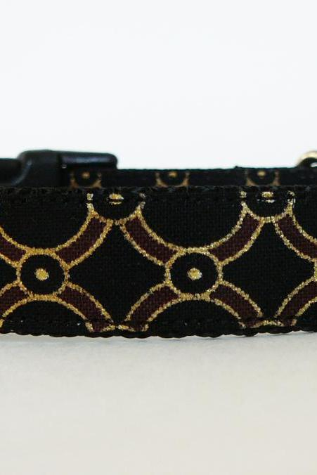 Dog Collar - 'Pirate's Booty' for Your Little Matey with Metallic Gold Accents