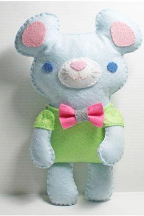 Little Blue Mouse - PDF Doll Pattern