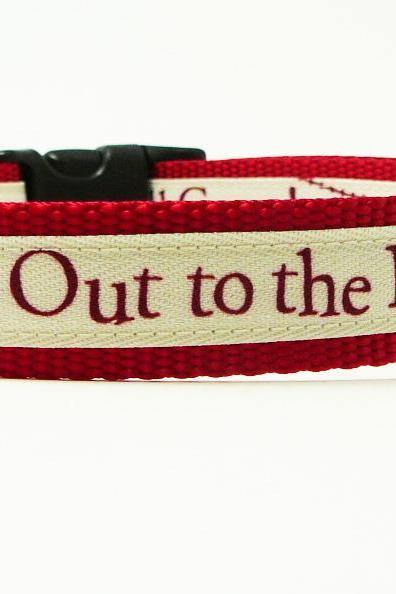 Dog Collar - 'Take Me Out To The Ball Game' Cute Baseball Dog Collar for Any Team