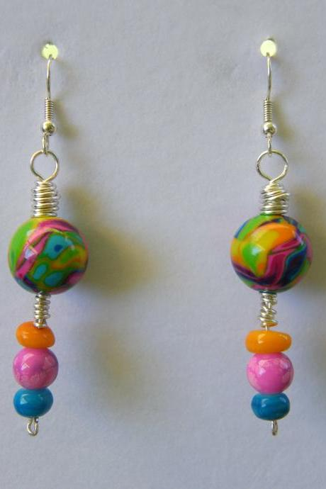Earrings, Multi Colored