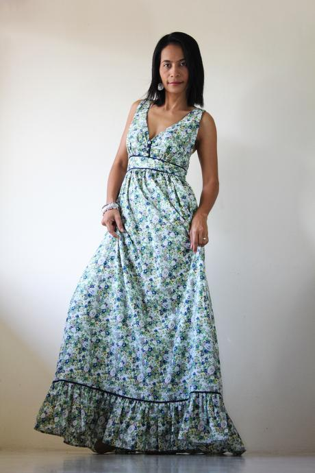 Floral Maxi Dress - Long Summer Dress : You Wear it Well Collection