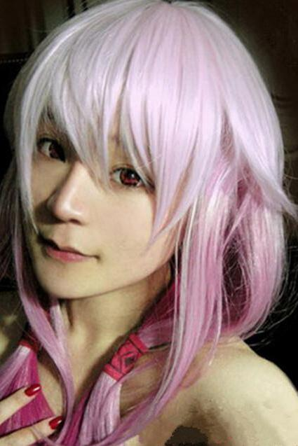 Guilty Crown Inori Yuzuriha Gradient Color Girl Lady Cosplay Style Wig