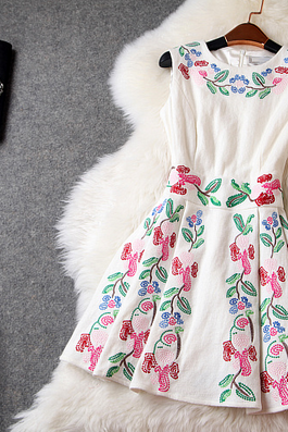Woolen Embroidered Dress