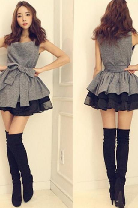 Fashion V-neck sling tutu dress KN0116CA