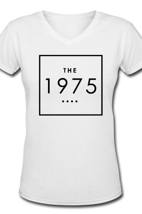1975 shirt Women White T-Shirt Sleeve Raglan Women shirt Gift