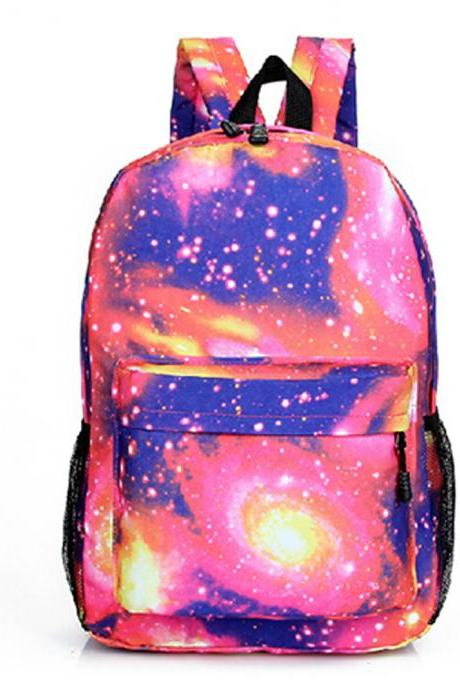 Fashion Starry Sky Unisex Canvas Backpack Travel Bag