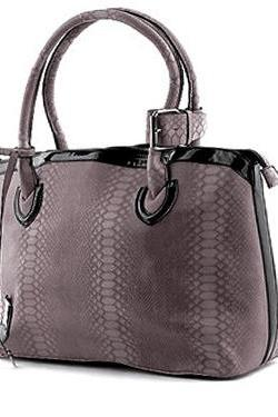 Leather Purse Grey Handbag Leather Tote Leather Hobo