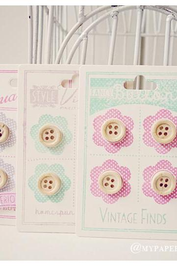 Wooden button embellishments