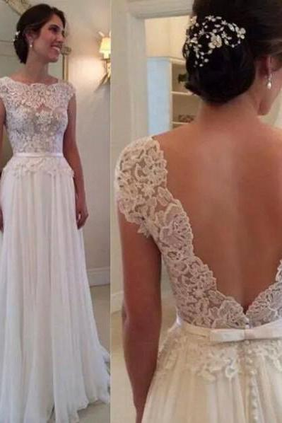 White Prom Dress,Floor-Length Prom Dress, Sexy Prom Dress,Backless Prom Dress,Sheer Prom Dress,Chiffon Prom Dress, Elegant Prom Dress,Fashion Prom Dress,Charming Prom Dress
