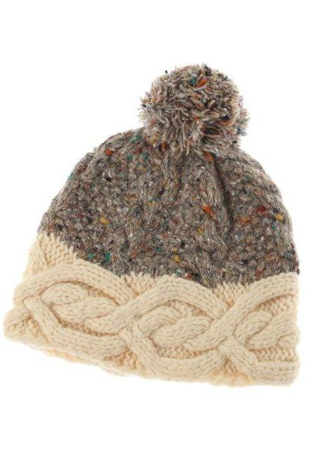 Celtic Collection beanie hat Cable Knit Wool Winter Fashion Cap