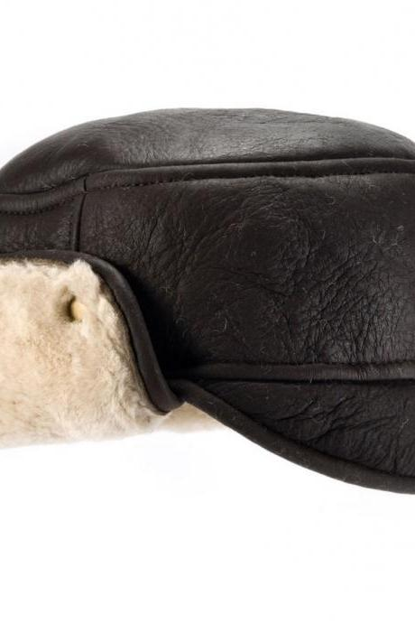 Mens Sheepskin Hat Size M, L, XL