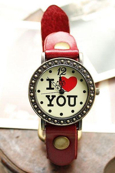 Retro Romantic I Love You Watches