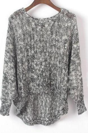 Loose long-sleeved sequined knit sweater FG11903JH