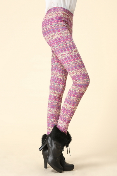 Pink/purple stripe leggings