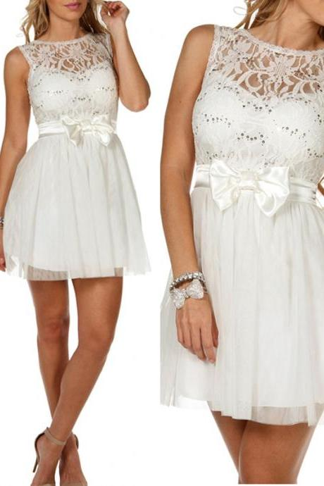 Elegant Lace Graduation Dress A-Line Short Graduation Dress Backless Homecoming Dress