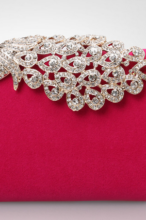 Fashion pearl rhinestone evening bag