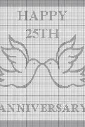 25th Wedding Anniversary Doves Crochet Pattern Graph e-mailed.pdf #340