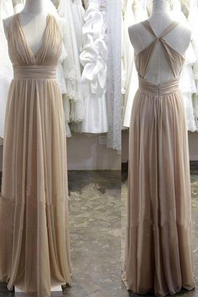 New Arrival Prom Dresses, Sexy V-Neck Prom Dress, Floor-Length Prom Dresses, Chiffon Prom Dresses, The Charming Prom Dress, Prom Dress,