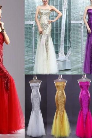 Women's Formal Prom Party Evening Dress Bride Bridesmaid Strapless Ball Gown