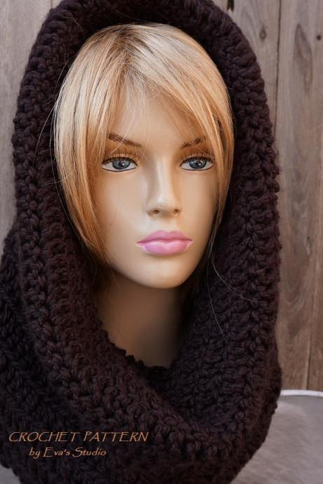 Crochet Scarf, Neck warmer, Pdf pattern, Easy, Great for Beginners, Scarf Crochet, Cowl/hoodPattern No. 81