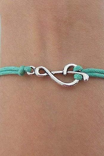Music Note Friendship Bracelet with Cords
