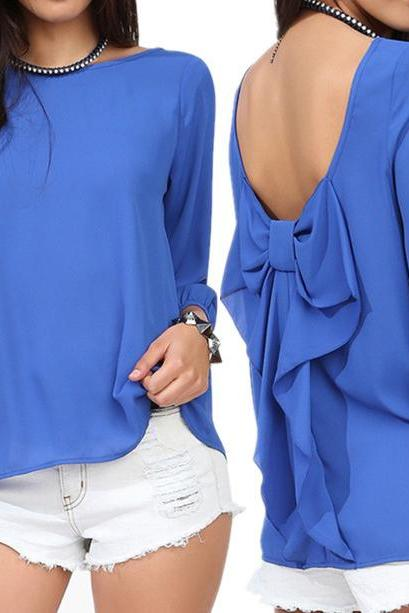 Loose Plus Size Chiffon Blouse