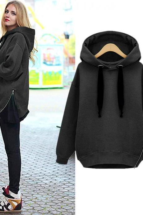 2016 Women's Casual Ladies Long Sleeve Hoodie Sweatshirt Outerwear Coat Pullovers