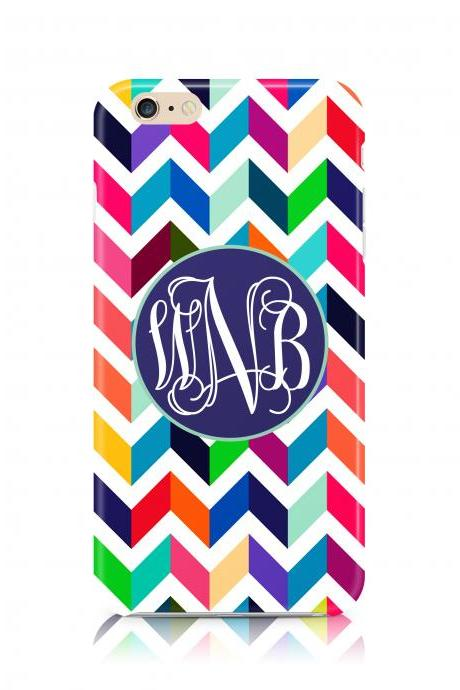 Colorful Monogram Chevron iPhone 6 Plus iPhone 6 iPhone 5s iPhone 5c iPhone 4s Samsung Galaxy s5 Samsung Galaxy s4 case
