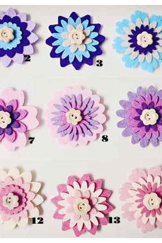 1 piece Flower felt embellishment (mix and Match)
