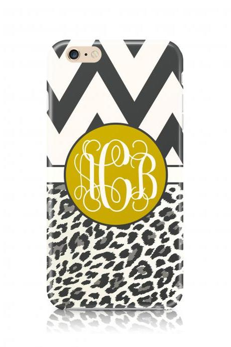 Chevron & animal print monogram iPhone 6 Plus iPhone 6 iPhone 5s iPhone 5c iPhone 4s Samsung Galaxy s5 Samsung Galaxy s4 case