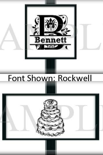 Elegant Mongrammed Black and White Wedding or Bridal Shower Candy Wrapper Party Favors