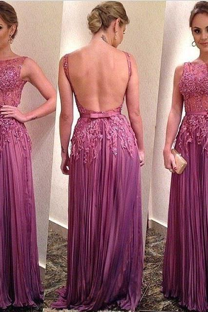 Real Made Stunning A-Line Sleeveless Prom Dress,Floor-Length Evening Dresses, Beaded Long Zipper Prom Dress,Evening Dresses