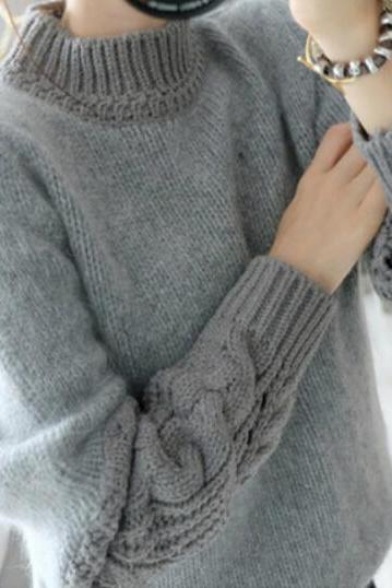 Retro loose knit sweater VG12803MN