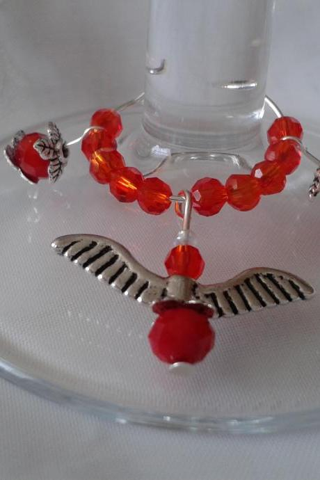 Wine Glass Charm With Wings