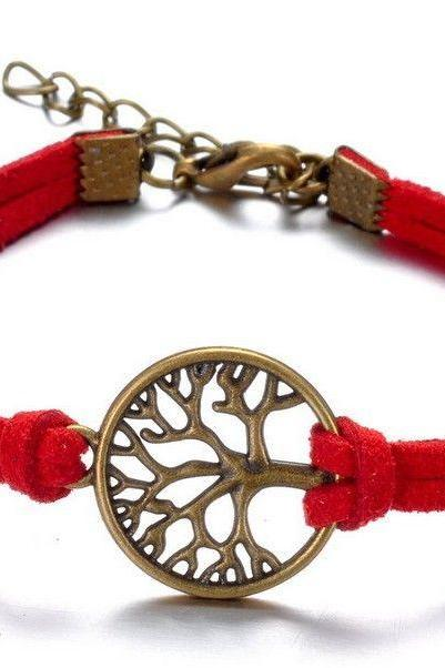Tree of life red rope casual luck girl bracelet