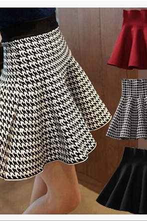 2015 skirts Cultivate one's morality pleated skirt of tall waist knitting skirt