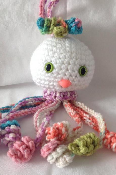 Crochet baby rattle crochet octopus rattle crochet rattle handmade baby toy jellyfish rattle