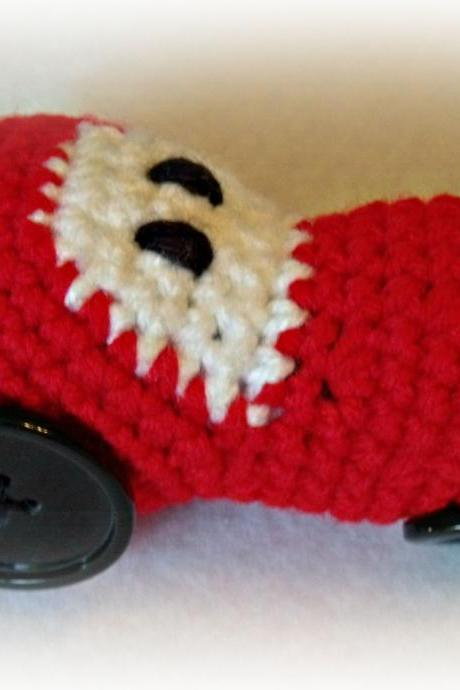 Crochet tractor car Baby Rattle