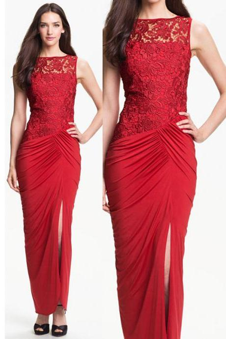 Ed178 Sheath Prom Dress Lace Prom Dress Sexy Prom Dress